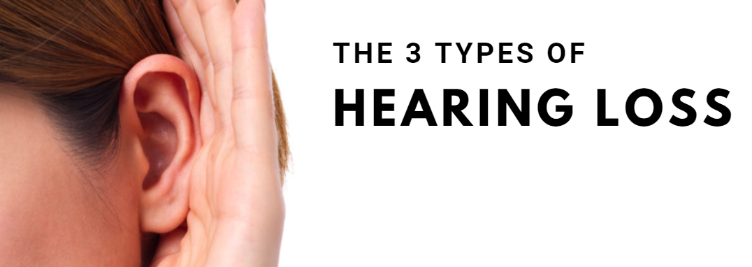3 types of hearing loss