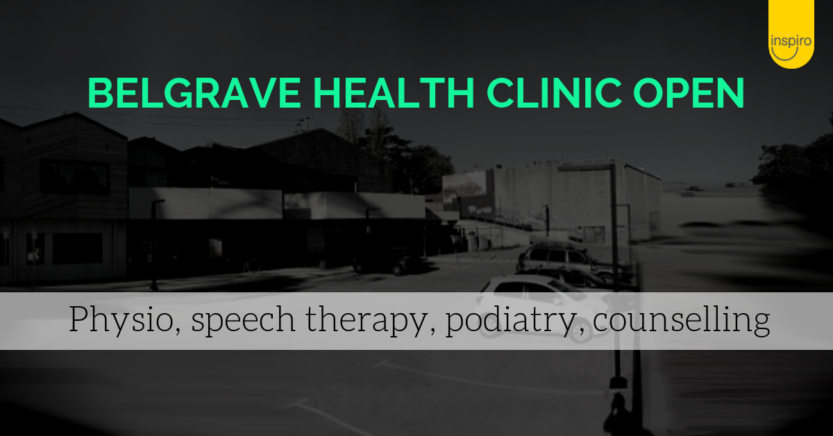 Belgrave Hub Inspiro physiotherapy, podiatry, speech therapy, counselling
