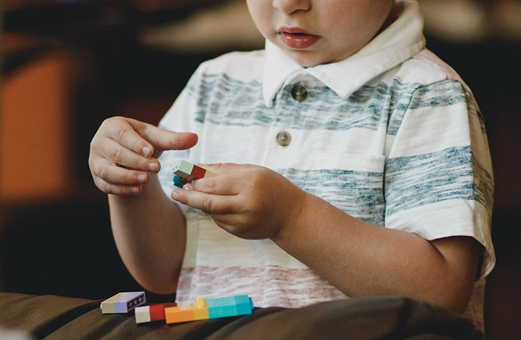 Building with Lego and blocks develops fine motor skills in children