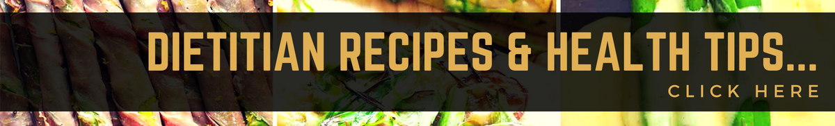 Free dietitian recipes and health tips banner