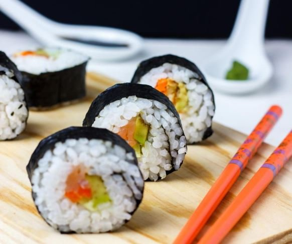 Home made healhty dietitian recipe sushi