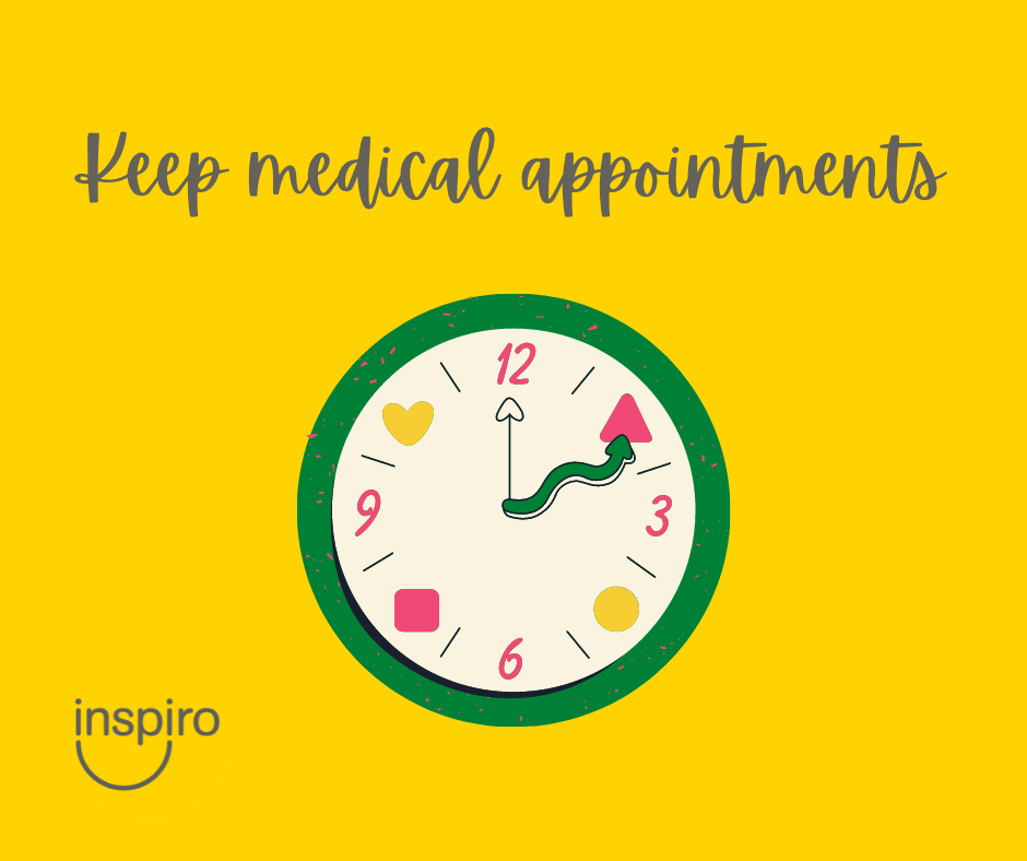 Keep medical appointments