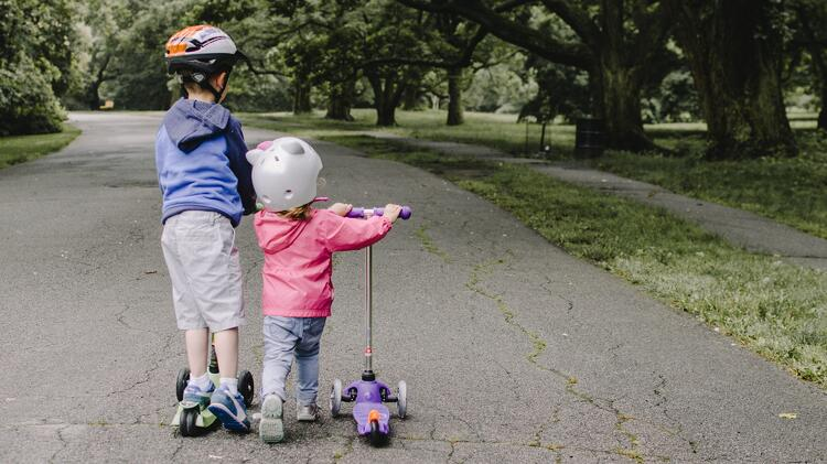 Scooters are great for coordination.and gross motor skills