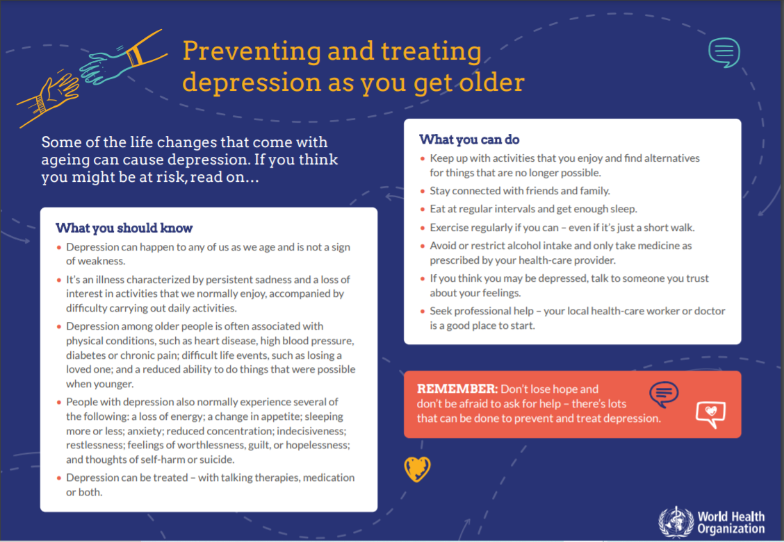 Preventing depression as you age