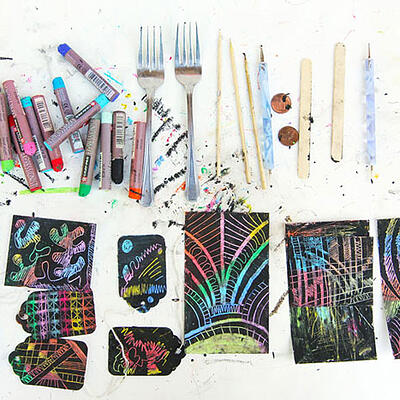 What you'll need to make scratch art