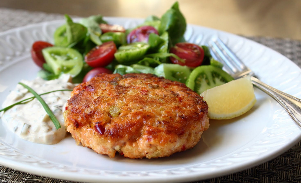 Salmon and sweet potato patties dietitian inspiro recipe