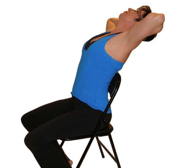 Seated thoracic extension Inspiro stretches