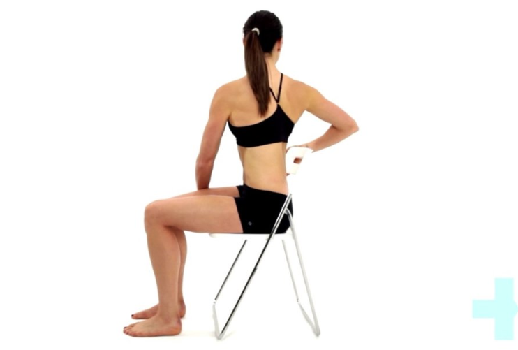 Seated trunk rotation stretch Inspiro