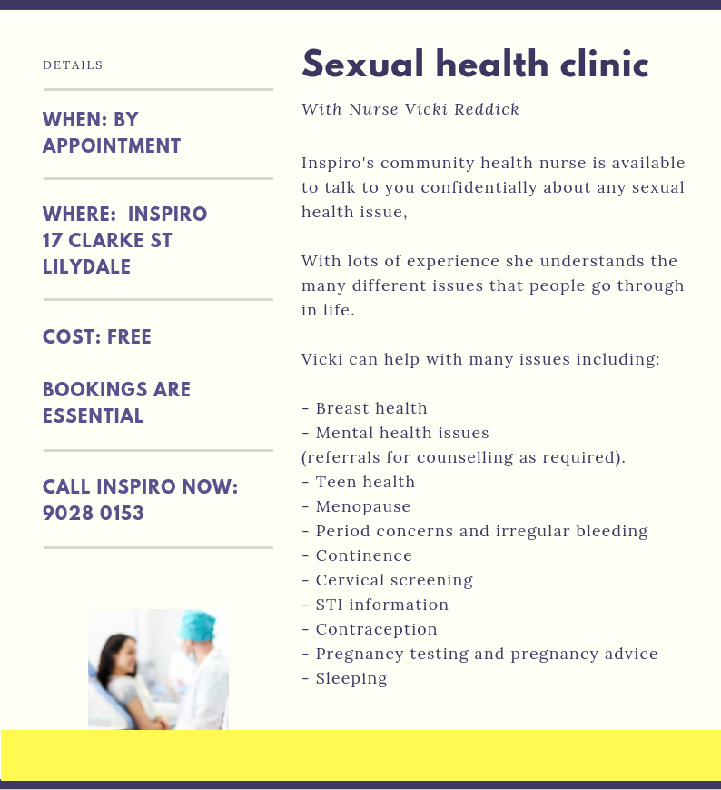 Sexual health clinic Inspiro Lilydale women's issues-996502-edited