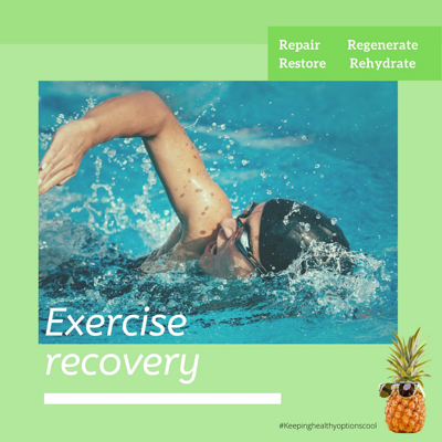 Exercise recovery postcard