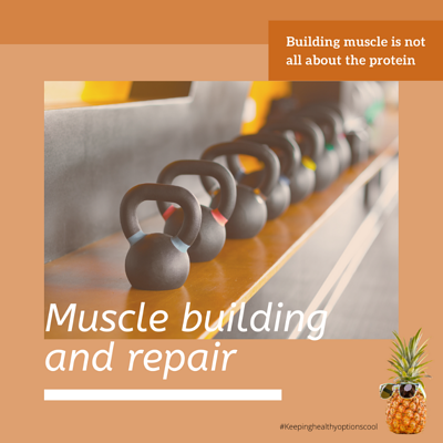 Muscle building postcard