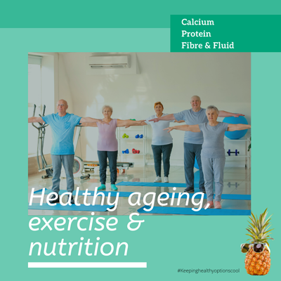 Healthy ageing postcard