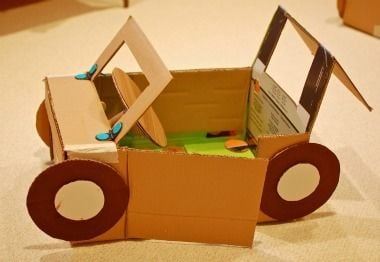 Make other things out of boxes like a robot car.