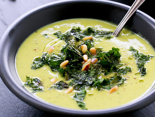 Sprinkle some kale chips on your home made soup