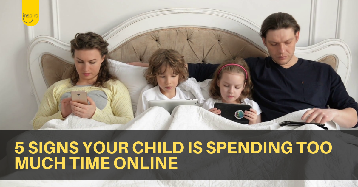 5 signs your child is spending too much time online