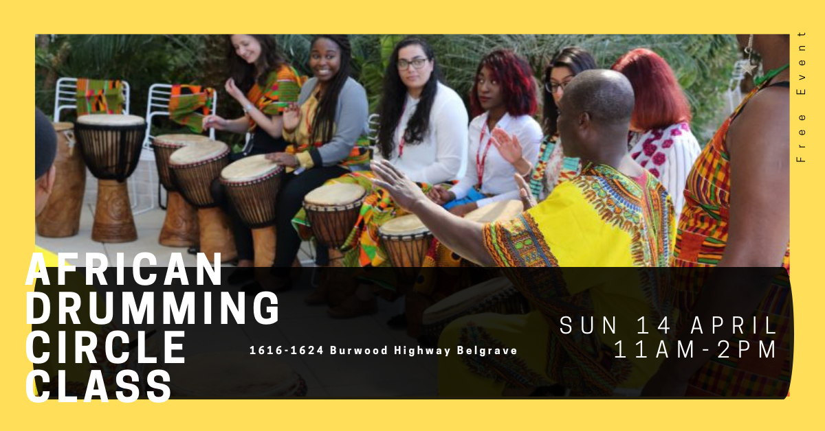 FREE African Drumming Circle Class at Belgrave Hub Open Day