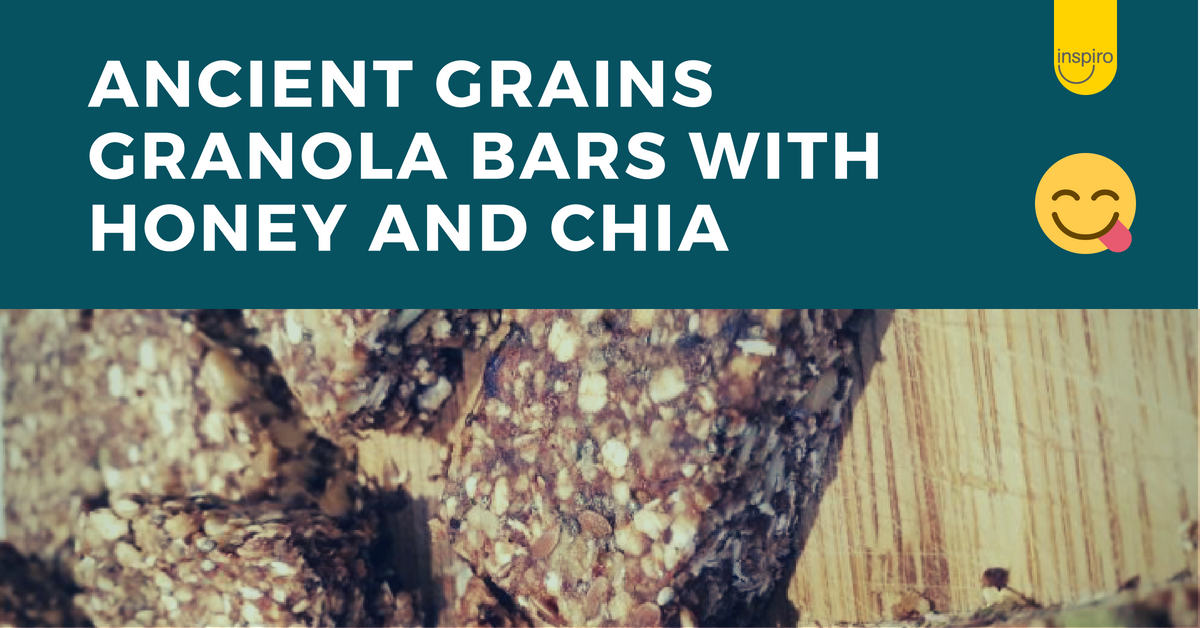 Ancient grains granola bars with honey and chia