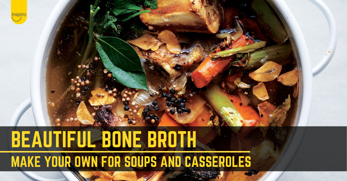How to make bone broth for soups, pho and casseroles
