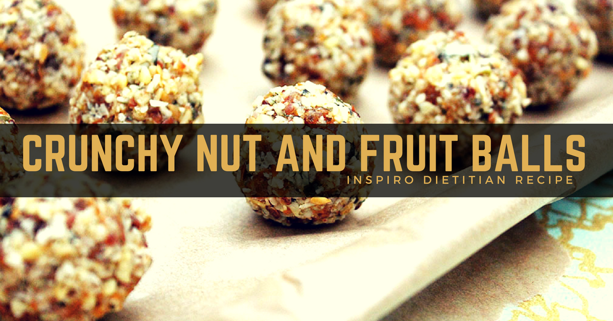 Crunchy Nut and Fruit Balls