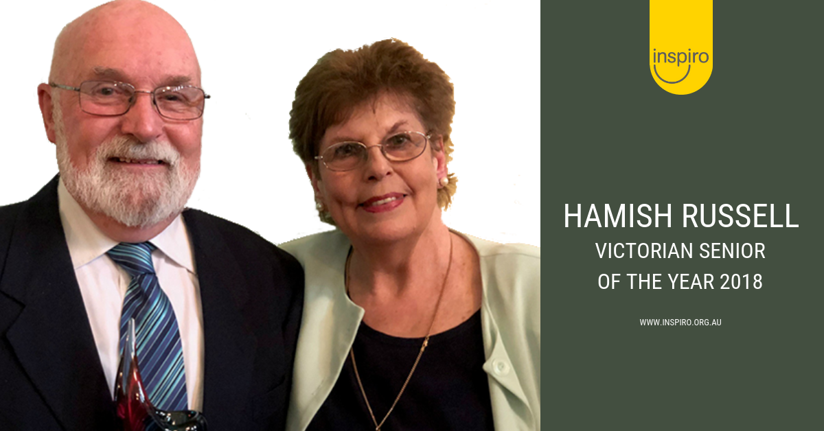 Hamish Russell awarded the Premier's Award - Victorian Senior of the Year