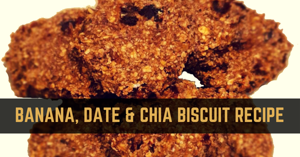 Tasty banana, date and chia biscuits recipe