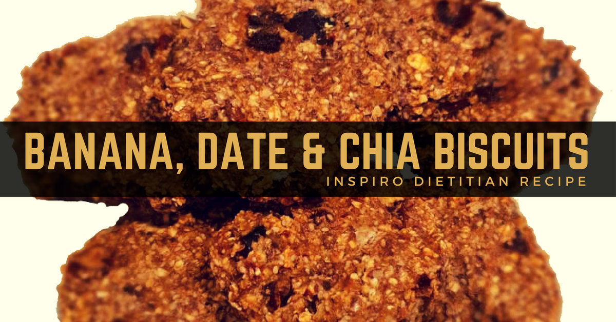 Healthy and delicious banana, date and chia biscuits