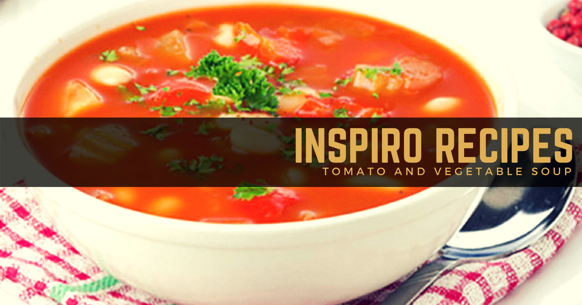 Hearty tomato and vegetable soup