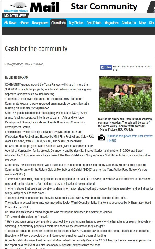 Cash for the community