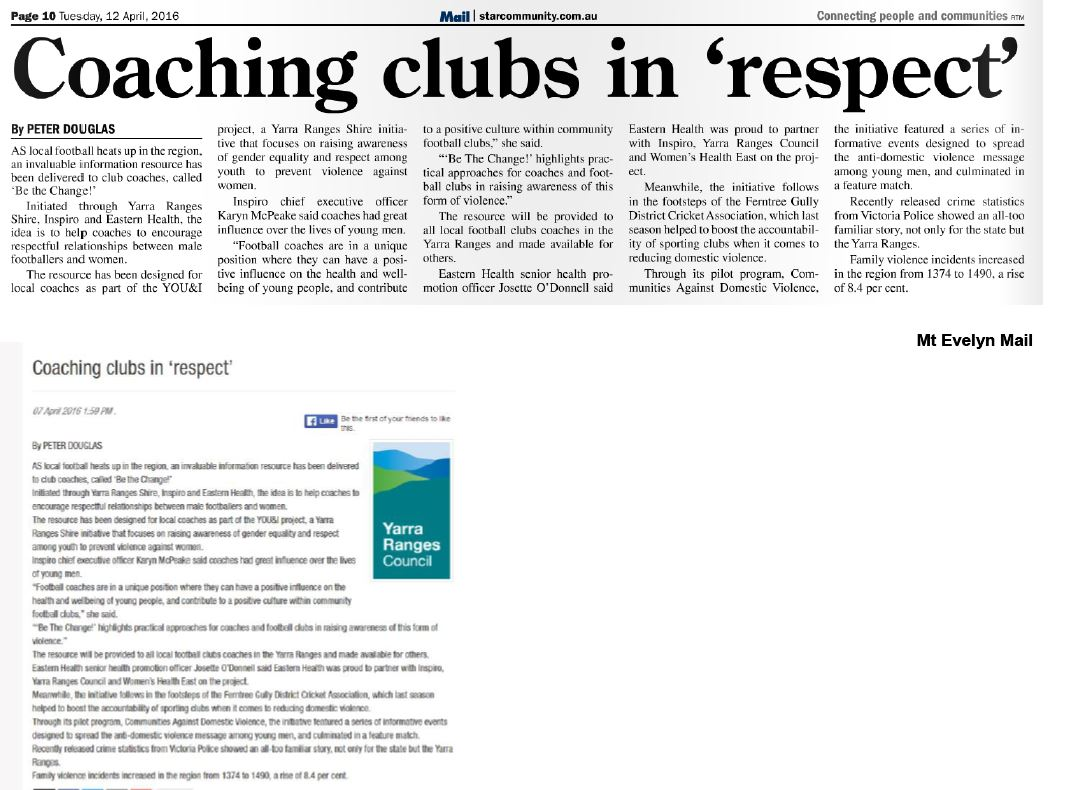Coaching clubs in 'respect'