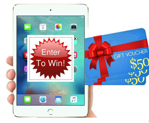 Inspiro survey - win an Ipad or one of five $50 vouchers