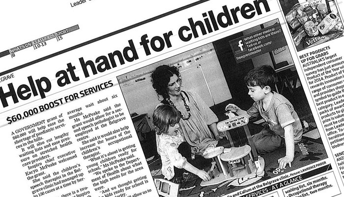 Help at hand for children.