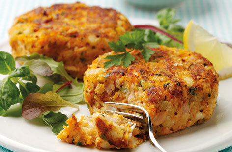 Inspiro dietitian approved salmon and sweet potato patties