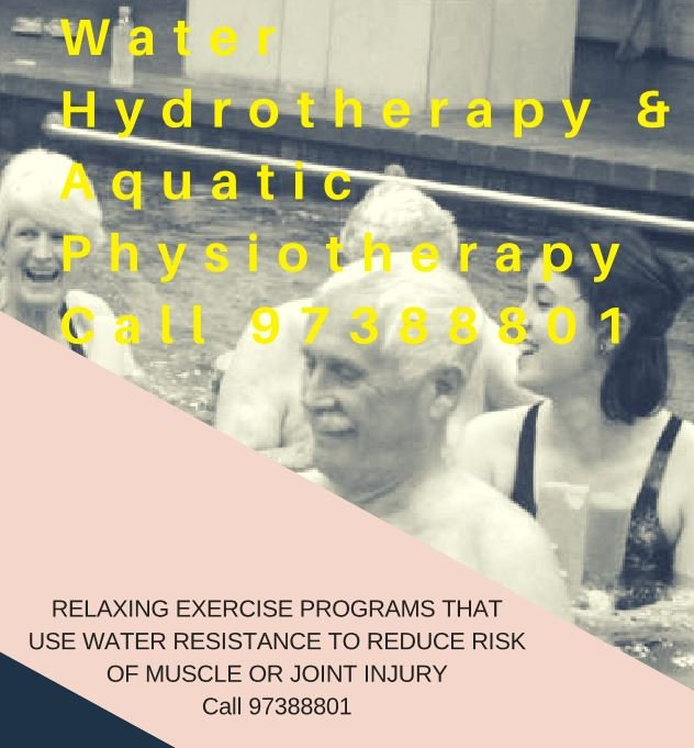 Water exercise, hydrotherapy and aquatic physiotherapy at Croydon and Lilydale