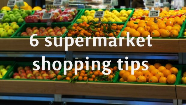 buy fruits and vegetables at the supermarket