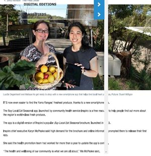 Inspiro launches app to promote Yarra Ranges seasonal produce