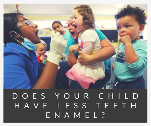 Kids with less teeth enamel need special dental care