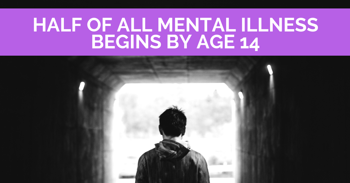 Half of all mental illness begins by age 14