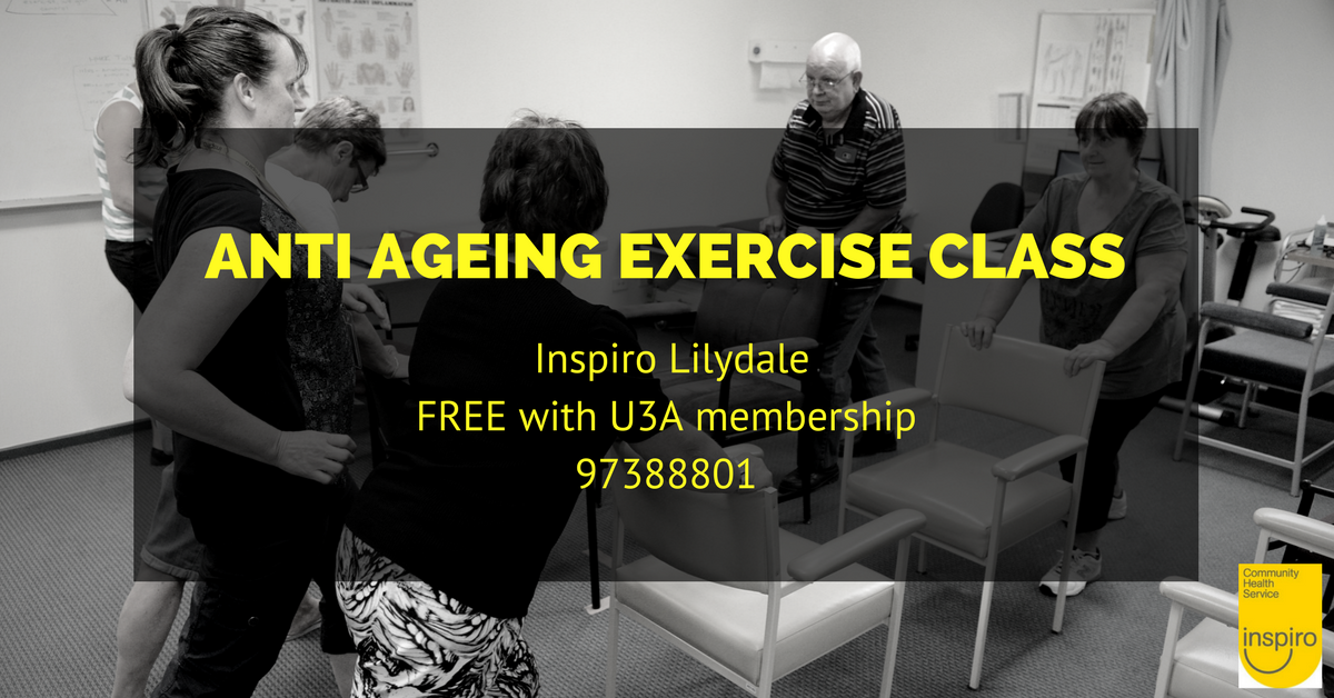 Staying steady anti-ageing exercise class