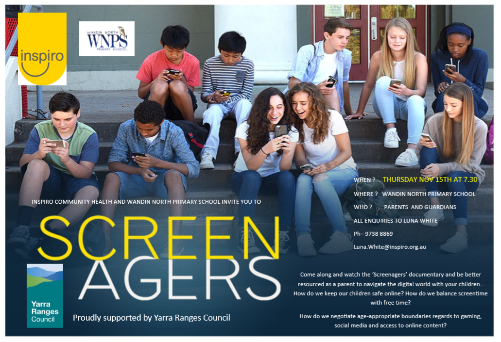 Inspiro and Wandin North Primary invite you to Screenagers
