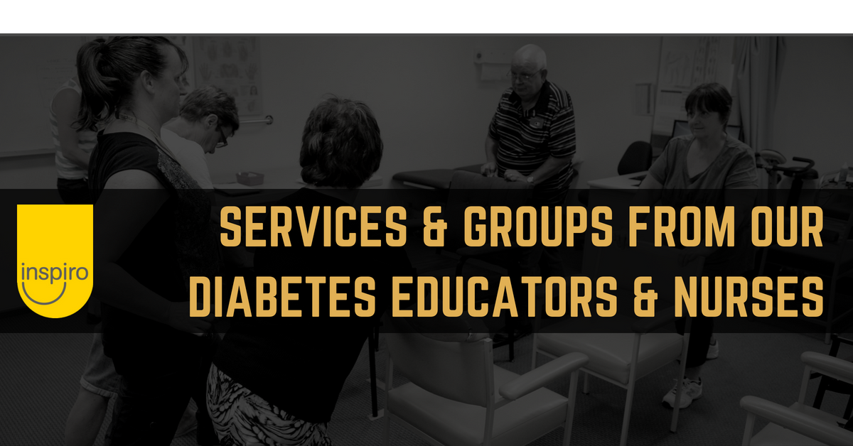 Services and groups from our diabetes educators and nurses