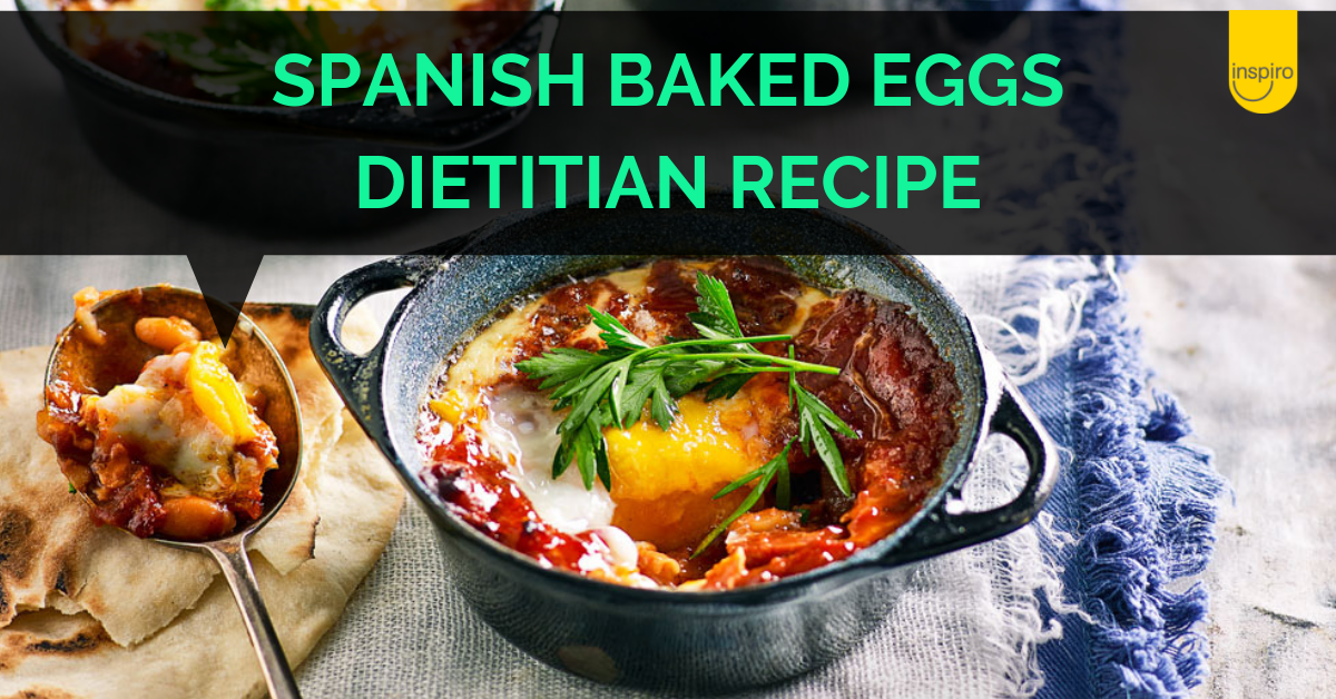 Spanish baked eggs Inspiro dietitian recipe