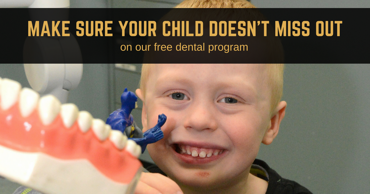 Make sure your child doesn't miss out on our free school dental program