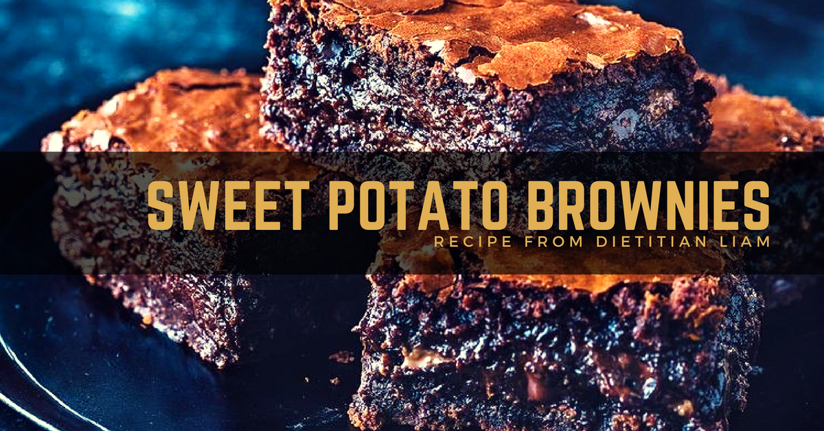 Sweet potato brownies from dietitian Liam